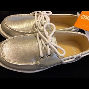 Gymboree Boat Shoes NWT's‼️ Sparkling Silver